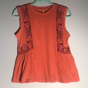 Free People Embroidered Tank  G15